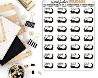 Sleeping   Napping   Catching Zzz   Planner Stickers   Penguin Set   Animal Collection
