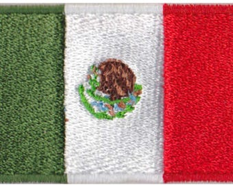 Small Mexico Flag Iron On Patch 2.5 x 1.5 inch