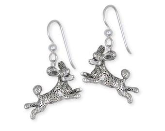 Silver Poodle Earrings Jewelry  PD60-E