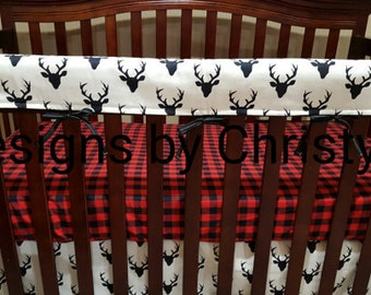 Soft, Flannel Plaid Fitted Sheet- Red Black Buffalo Check, Cradle, Crib, Twin, Queen