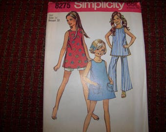 SIMPLICITY 8275 girls pattern size 14