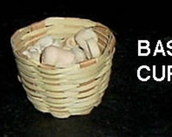 Miniature BASKET FULL Of Coffee Cups