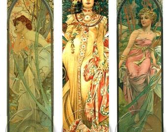 Alphonese Mucha Art Nouveau Digital Download  Art Print 1