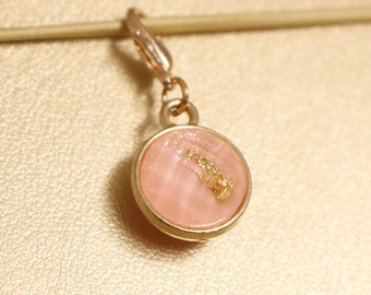 Pink Gold Foil Planner Charm - Gold - Glitter - Iridescent - Charms