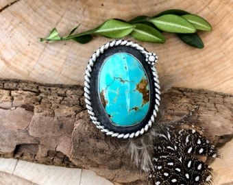 Western Sky ~ Royston Turquoise Ring Size 9