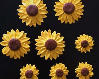 Fondant Sunflowers