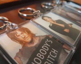The Walking Dead TWD character keyrings