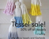 SALE  !!   Hand dipped cotton tassels