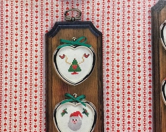 MAYniaSALE Vintage Christmas Mini-Hearts by Kathy Stopczynski for counted cross stitch , hard to find