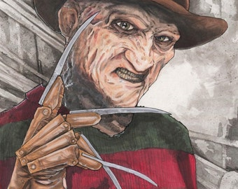 Freddy Krueger A Nightmare On Elm Street Poster Print