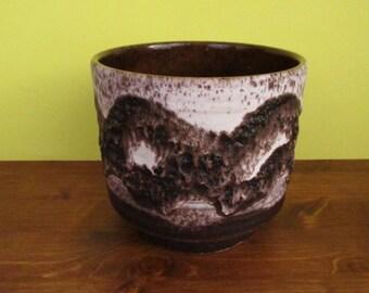 SALE Pottery planter FAT LAVA design/Blumentopf im Fat Lava Design | West German Pottery