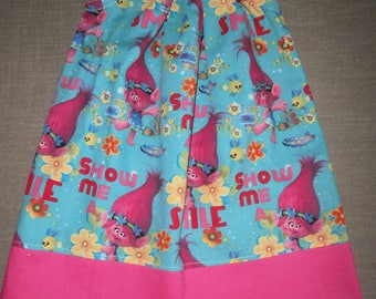 Troll Pillowcase Dress, Summer Dress, Hot Pink, Birthday, Gift, Girl Outfit, Children, Kids, Clothes, Babys Clothes, Toddlers Dress