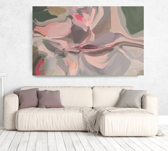 "The Shades of Pink Abstract 4, Abstract Painting Modern Wall Art Painting Canvas Art Print Art Modern Pink up to 80"" by Irena Orlov"
