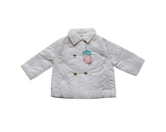 FRENCH VINTAGE 70's / kids / padded jacket / white Rhovyl / new old stock / size 1 year