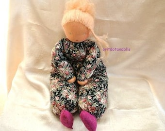 Waldorf doll -15inch\37.5cm- for all ages, made of natural materials.