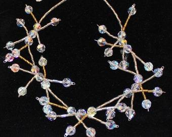 Crystal necklace, Swarovski necklace, wedding necklace, bridesmaid necklace - NK010