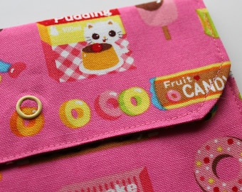LG Snappy Pouch - Candy chaton et Chihuahua - rose - nouveau tissu