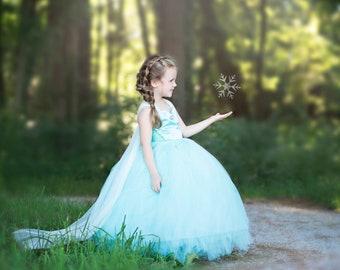 Elsa Dress- Frozen Dress- Queen Elsa Costume- Frozen Costume