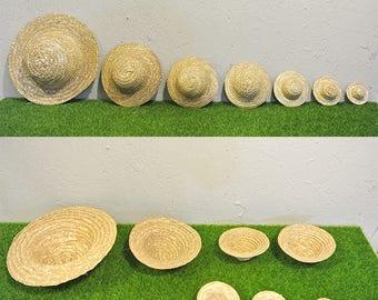 Mini Straw Hat Miniature/Straw Doll Hats