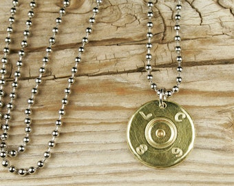 Bullet Necklace / Authentic 50 Caliber Bmg Bullet Head Necklace LC-50-BB-BHN / Bullet Head Necklace / Custom Necklace / Chain Necklace