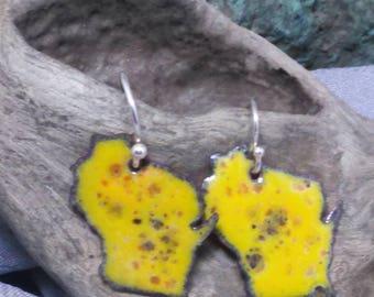 Cheesy Wisconsin earrings!