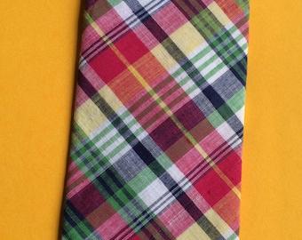 Plaid Necktie,Multi Color Necktie,Pattern Necktie,Retro Necktie,Conservative necktie,Red Tie,Country Necktie,Cotton Necktie,Summer Necktie