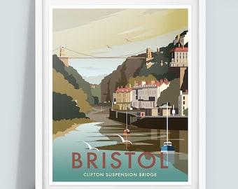 Bristol, Clifton Suspension Bridge, Travel Poster