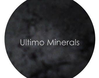 Ultimo Minerals GREAT ODIN'S RAVEN Charcoal Pearlized Eye Shadow - Mica Infused Pigment - Natural: Chemical & Gluten Free - Free Shipping!!