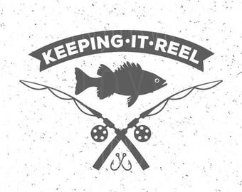 Fishing SVG Keeping it reel svg Fish svg Fishing rod svg Fishing SVG file Hook svg Fish svg Cut Files Fishing Hook svg Silhouette Cameo