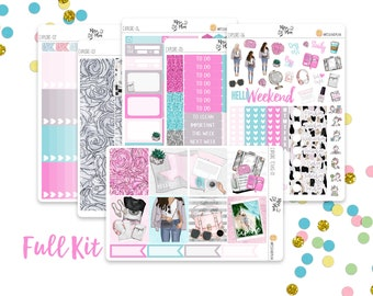 Explore- A LA CARTE Vertical Weekly Kit planner stickers- Travel, Summer, Vacation, Road Trip