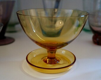 Martini Glass with Built-In Saucer