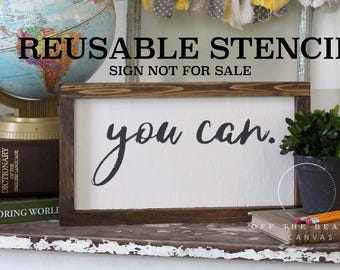 you can. STENCIL | Laser Cut || Reusable || Multiple Sizes || Fast Shipping