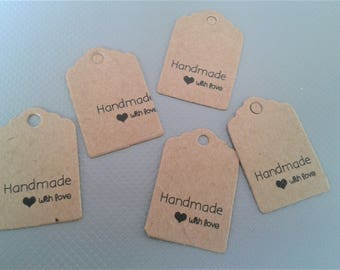 Kraft paper Handmade tag with love, Gift tags, Paper tags