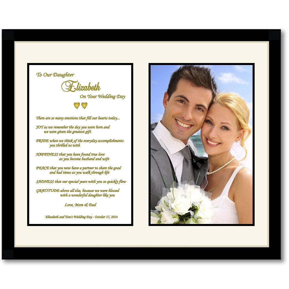 Parents to Daughter Poem for Daughters Wedding Day Touching