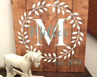 Established Sign | Established Family Sign | Established Wedding Sign | Wood Sign | Custom Wood Sign | Rustic Wall Decor | Personalized Sign