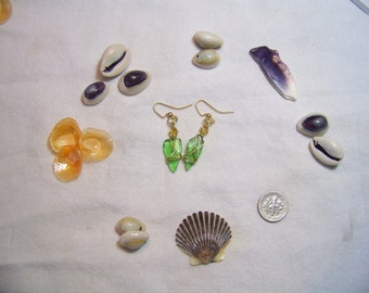 Wire wrapped earrings made from Cape Cod and Islands sea glass