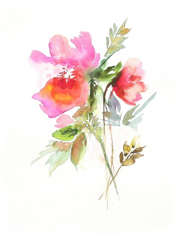Abstract Watercolor Peony | www.pixshark.com - Images ...