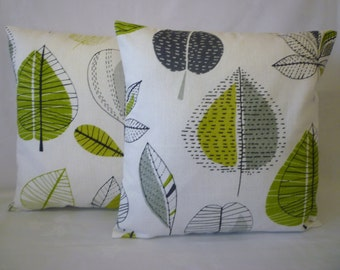 "PAIR Cushion Pillow Covers Lime Green Designer Decorative Pillows Shams Slips PAIR 16"" (40cm)"