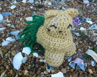 Hula cat / Mythical cats / crochet cat plushy / island cat