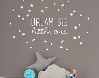 Dream Big Little One ~ Mini wall decal