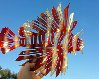 Aluminum Lionfish Wall Art