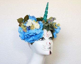 Unicorn Nouveau unicorn horn costume headdress