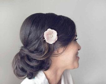 Erröten Sie Blush Rosa Hochzeit Haar Accessoire, Blush Fascinator, Blush Bobby Pin, Hochzeits Flower Hair Clip, Blush Seide Blume Clip