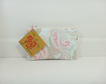 Paisley Small Cosmetic Bag, Small Pouch, Makeup Bag, Small Pouch Purse, Small Cosmetic Pouch, Zipper Pouch, Makeup Pouch