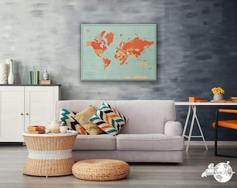 World map pin board etsy world map pin board world pin map world travel map canvas pin adventure gumiabroncs Gallery