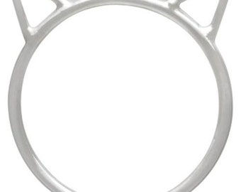 Finger Rings,  Large Cat Face, Sterling Silver,  Size 8 - 1 Pc Wholesale Price (12758)/1