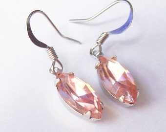Vintage Pink Earrings Dangle - Rosaline Jewelry Jewellery - Accessories For Women Rhinestone
