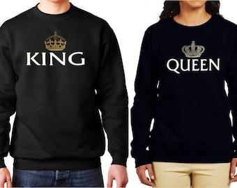 Fleur Sweatshirts, Fleur King Sweatshirt, Fleur Queen Swweatshirt, Fleur Collection, Floral Sweatshirts, UNISEX