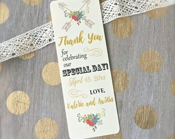 Wedding favors, wedding bookmark favors, bookmark favors, custom bookmark, engagement favors, engagement bookmark  - set of 20(bk3)