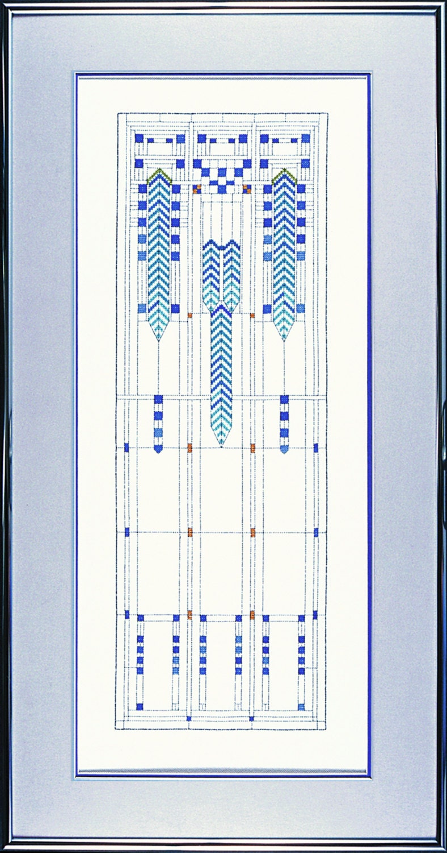 Frank Lloyd Wright Wisteria Window Cross Stitch Kit